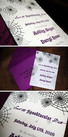 Image detail for -Maybe those save the dates were for this AWESOME Halloween wedding ...