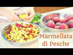 come fare la marmellata di pesche fatta in casa in modo semplice e veloce, solo frutta, zucchero, succo di limone, ricetta e procedimento