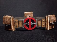 Deadpool Inspired Costume Belt and Pouches by GearBoxLeather