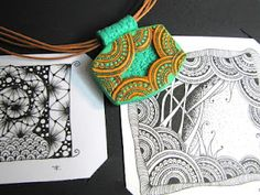 Combining zentangle and polymer clay