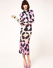 House of Holland Polo Maxi Dress In Pastel Leopard Print