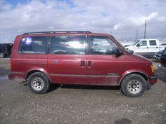 Red And Gray 1997 Gmc Safari Van