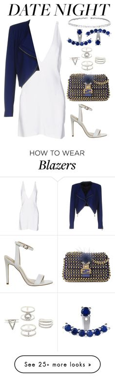 """Blue Moon"" by calvinrogers96 on Polyvore featuring Christopher Kane, Pinko, Fendi, Charlotte Russe and Suzanne Kalan"