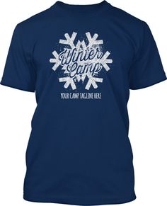Hit the white hills for your youth group winter camp. Let's go! Snow Winter Camp Shirt Design #557