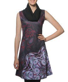 Look at this #zulilyfind! Dark Purple Vanilla Flower Cowl Neck Dress by smash! #zulilyfinds