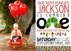 Very Hungry CaterpillarInspired Custom Invite by partypixieinvites, $12.00