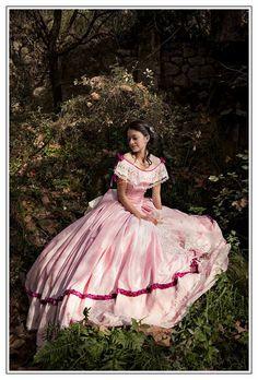 Robe de guerre civile Dame de Microsoft ball robe des années 1850