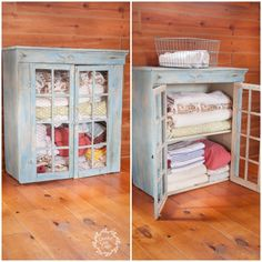 Linen Cabinet Before & After | Creativecaincabin.com