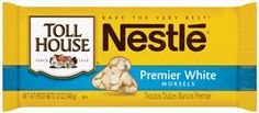 Nestle Chocolate Chips Nutrition Facts | Nestle Premier White Chocolate Morsels | 12 Oz. | Chocolate, Chips ...