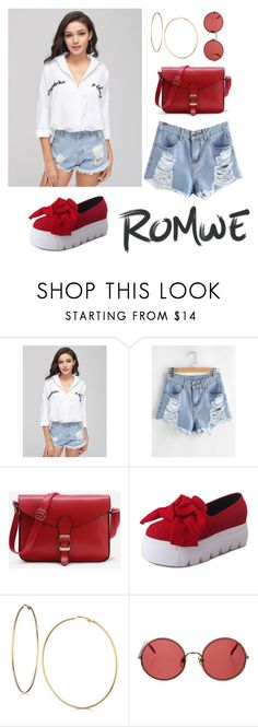 """""""Letter Embroidery Blouse"""" by menoly ❤ liked on Polyvore featuring GUESS and Sunday Somewhere"""