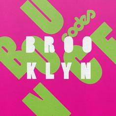 The Boogie, Things That Bounce, Brooklyn, Typography, Symbols, Letters, Cover, Artwork, Letterpress