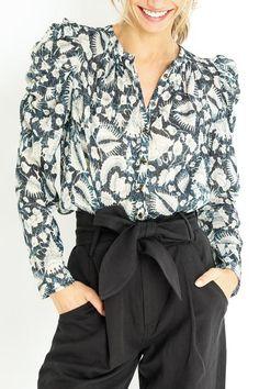 ADINA BLOUSE Ulla Johnson, Blouse, Crochet, Collection, Blouses, Ganchillo, Crocheting, Woman Shirt, Knits