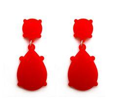 Silhouette Red Earrings by Rahya