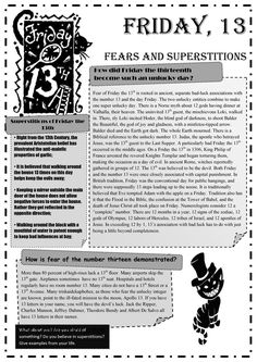 Friday 13th Fears and Superstitions