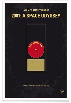 2001 - A Space Odyssey als Premium Poster von Chungkong | JUNIQE