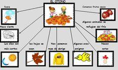 ESOS LOCOS BAJITOS DE INFANTIL: MAPA CONCEPTUAL DE OTOÑO Material Didático, Dora, Autumn Crafts, Fall Is Here, Autumn Theme, Months In A Year, Classroom Decor, Preschool, Education
