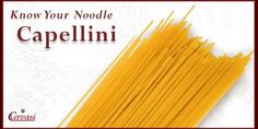 Angel Hair pasta is well-known as a go-to noodle and a perfect pantry staple. Though it's often confused with the Spaghetti noodle, it's thinner shape works best with light cream and oil-based sauces. Another point of confusion could be that Angel Hair pasta is the Americanized name for the thin Capelli d'angelo noodle.
