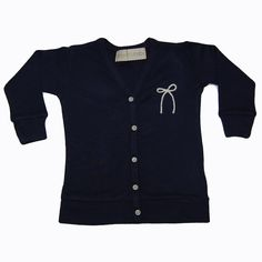 Yarn Bow Cardigan Navy