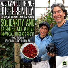 "Hear hear! We agree completely. ""Go behind the lens & learn why photojournalist James Rodríguez believes in the power of #FairTrade here: http://fairtrd.us/PVoNo6"""