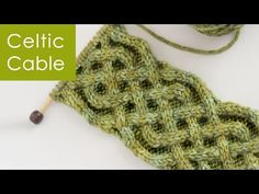 How to Knit the Celtic Cable by Studio Knit. This is perfect to use in anything you're knitting for St. Patrick's Day!