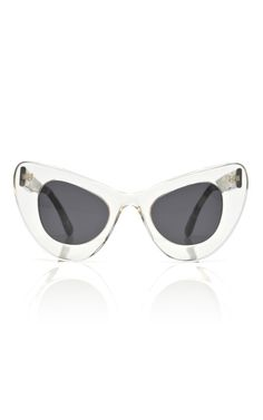 Illesteva for Zac Posen Two Tone Cat Eye Sunglasses