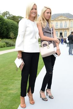 Maria Olympia of Greece and Crown Princess Marie Chantal of Greece - Front Row At Dior Fall 2014 Couture
