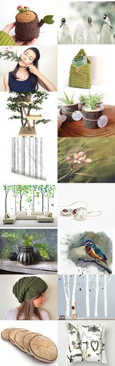 163. spring dream become a birch stump by lady lovely on Etsy--Pinned with TreasuryPin.com