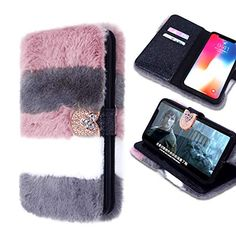Losin Plush Case Compatible with Apple iPhone 7 / iPhone 8 Inch Luxury Cute Colorful Fuzzy Furry Winter Rabbit Hair Warm Plush Fluffy Fur Soft TPU Full Protective Wallet case Galaxy Note 9, Samsung Galaxy Note 8, Iphone 8 Plus, Iphone 7, Apple Iphone 6, Phone Case, Amazon, Amazons, Iphone Seven