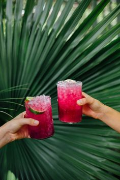 Cocktail Recipes : Prickly Pear Margaritas by Camille Styles Party Drinks, Fun Drinks, Yummy Drinks, Alcoholic Drinks, Yummy Food, Beverages, Drinks Alcohol, Drinks Wedding, Alcohol Bar