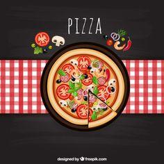 Pizza italiana Vettore gratuito
