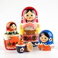 Colorful Nesting Doll with Bunny | Nesting dolls | The Russian Store   Easter nesting doll from www.therussianstore.com