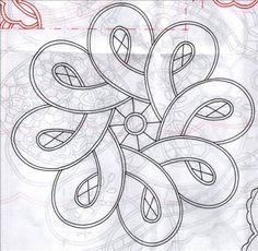 Tape lace crochet pattern great idea for a beading pattern Stained Glass Patterns, Mosaic Patterns, Pattern Art, Quilt Patterns, Crochet Pattern, Longarm Quilting, Hand Quilting, Machine Quilting, Cutwork Embroidery