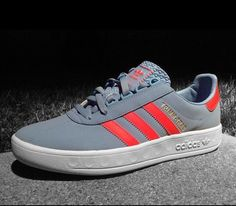 adidas Originals Trimm Trab: Grey/Red