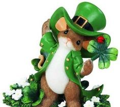 Image Search Results for fitz and floyd charming tails Fete Saint Patrick, Saint Patricks Day Art, Needle Felting Tutorials, Cute Mouse, Forest Friends, Luck Of The Irish, Whimsical Art, Unique Gifts, Christmas Ornaments