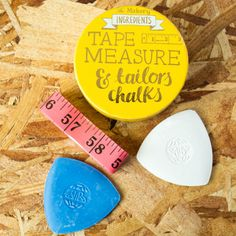 Tailor's Tape Measure & Chalks Set