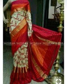 Welcome to Vasthram Silk Ethnicity Redefinded Kasavu Saree, Ikkat Pattu Sarees, Chanderi Silk Saree, Bandhini Saree, Velvet Saree, Saree Blouse Neck Designs, Saree Trends, Trendy Sarees, Saree Look