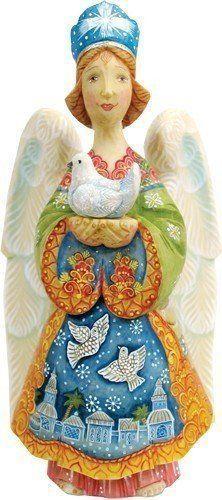 G Debrekht Standing Nativity Angel Figurine