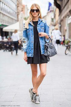 Jaqueta Jeans e Vestido