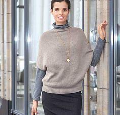 Кашемировый пуловер - схема вязания спицами. Вяжем Пуловеры на Verena.ru