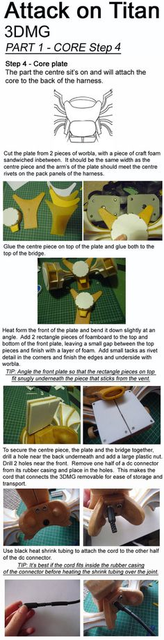 Attack on Titan, 3DMG, Tutorial - CORE STEP 4 by Aliasdotcom