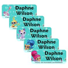 www.OliversLabels.com/Wilson   Personalized Name Labels 10% off with Promo Code Wilson