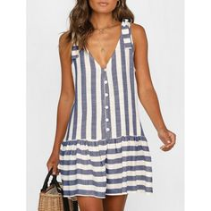 Striped Plunge A Line Tank Dress Striped Plunge A Line Tank Dress Striped Plunge A Line Tank Dress are beautiful, lovable and affordable. You deserve it! Striped Plunge A Line Tank Dress Stitching Dresses, Straight Dress, Mini Vestidos, Types Of Dresses, Women's Dresses, Tank Dress, Ruffle Dress, Casual Dresses For Women, Types Of Sleeves