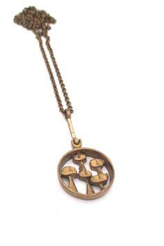 Jorma Laine, Finland - vintage 'faces in a crowd' bronze pendant necklace Bronze Jewelry, Bronze Pendant, Gold Necklace, Pendant Necklace, Metal Clay, Silver Enamel, Crowd, Vintage Jewelry, Faces