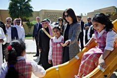 Prince Frederik and Princess Mary visits King Abdullah Financial District