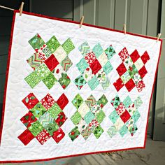 Christmas Table Runner in Joy by Kate Spain by FrivolousNecessity