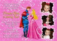 Printable Sleeping Beauty Princess Aurora Birthday Party Invitations