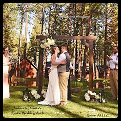 Wedding Arch/Wedding Arbor/Rustic Wedding Arch/Complete Kit/ Indoors Or Outdoors/Country Wedding Backdrop/Dark Walnut/Shipping Included Wedding Arch/Wedding Arbor/Rustic Wedding Arch/Complete Kit/ Country Wedding Arches, Wedding Arbor Rustic, Wedding Arbors, Wedding Vows, Diy Wedding, Wedding Events, Arch Wedding, Wedding Ideas, Country Weddings