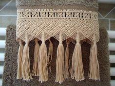 creattivamente: Macramè - asciugamani e cintura