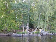 cano camping spot, off the banvallsleden, lake asnen, Sweden, via Flickr.