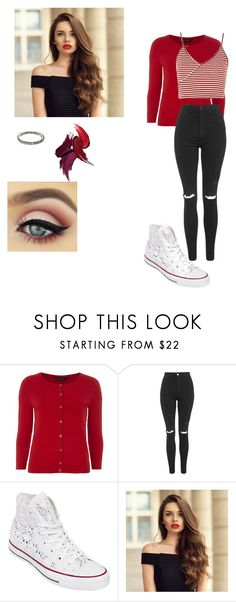 """like a prayer // glee"" by anooukk ❤ liked on Polyvore featuring Dorothy Perkins, Topshop, Converse and SUSAN FOSTER"